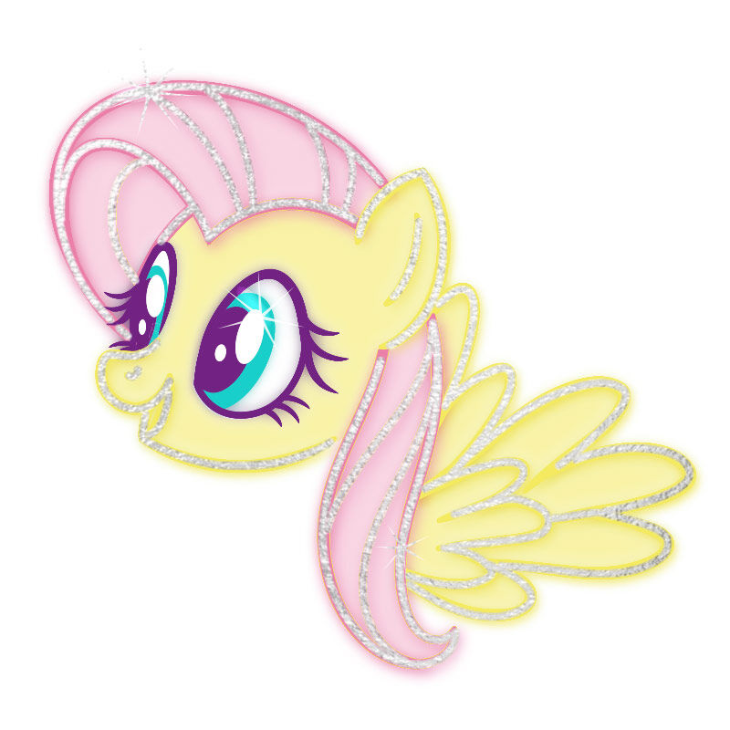 My Little Pony Fluttershy Metallic Temporary Tattoo image number null