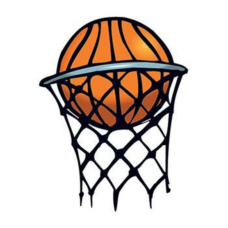 Basketball in Hoop Temporary Tattoo image number null