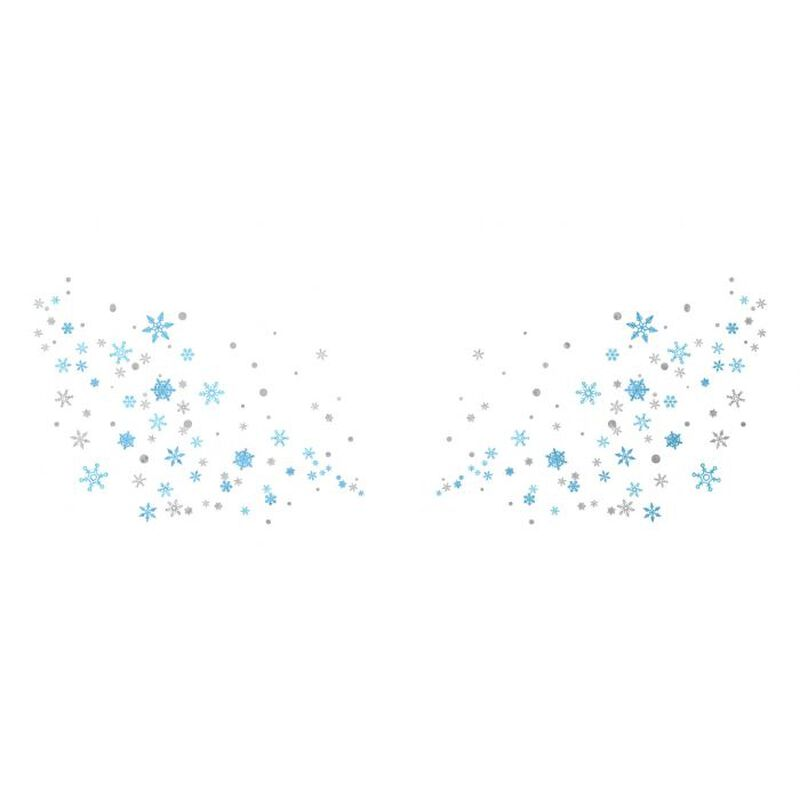 Metallic Snowflake Flashy Freckles Face Temporary Tattoo image number null