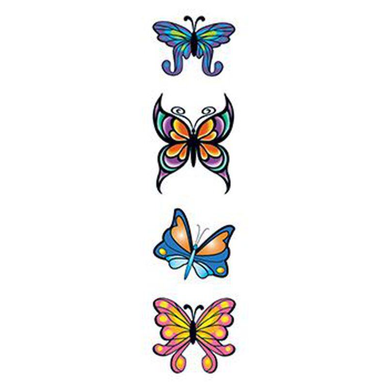 Modern Butterflies Temporary Tattoo Set image number null