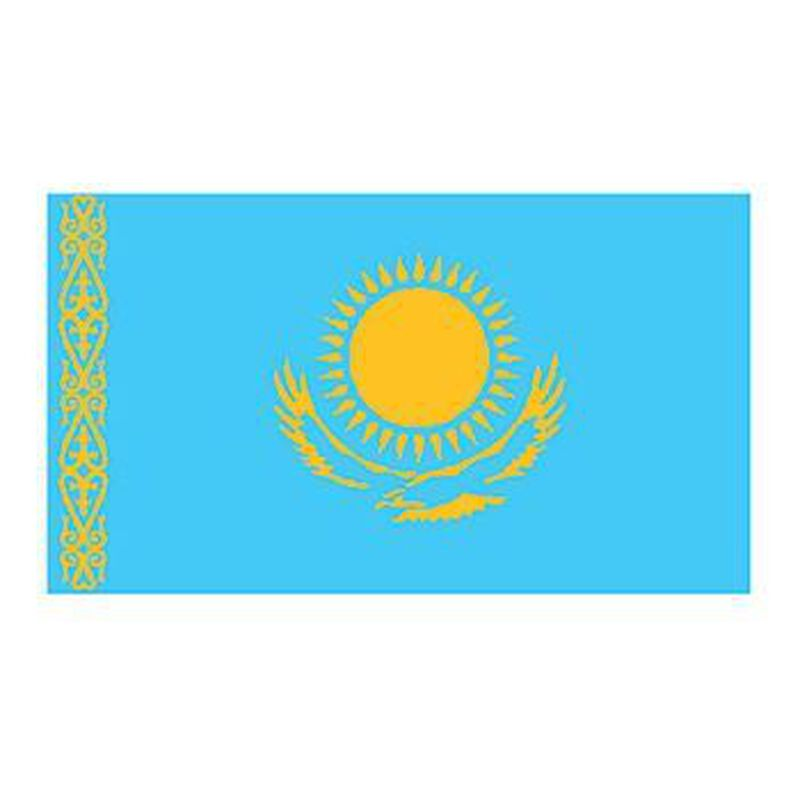 Kazakhstan Flag Temporary Tattoo image number null