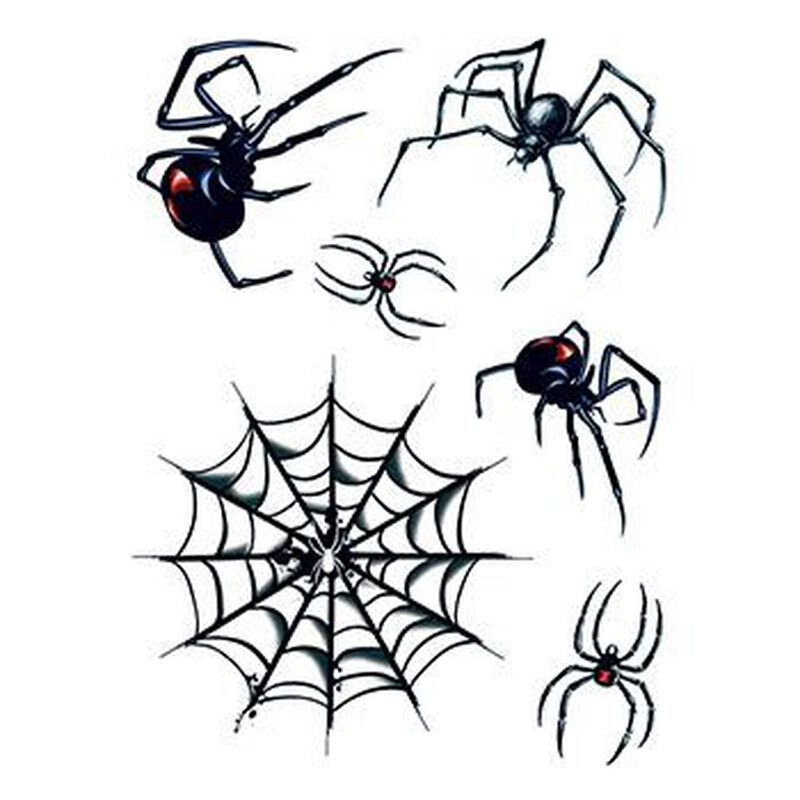 Spider and Web Temporary Tattoos image number null