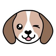 Beagle Face Temporary Tattoo