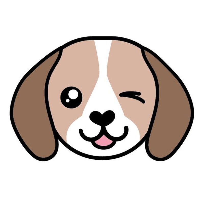 Beagle Face Temporary Tattoo image number null