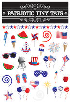 Patriotic Tiny Tats Temporary Tattoos