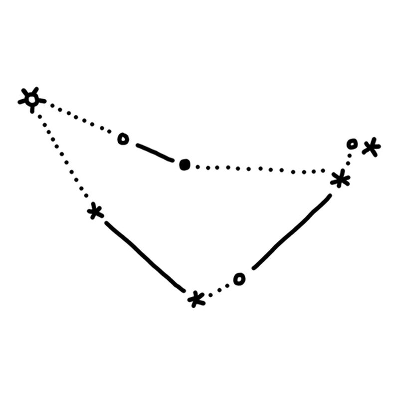 Capricorn Constellation Temporary Tattoo image number null