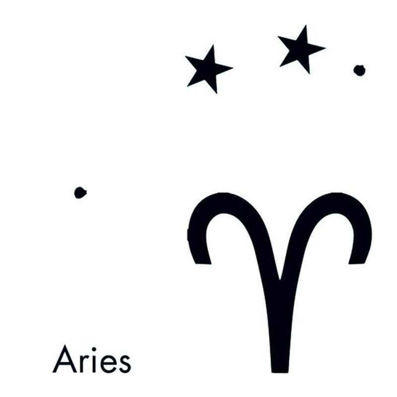 Aries Astrological Tempoary Tattoo image number null