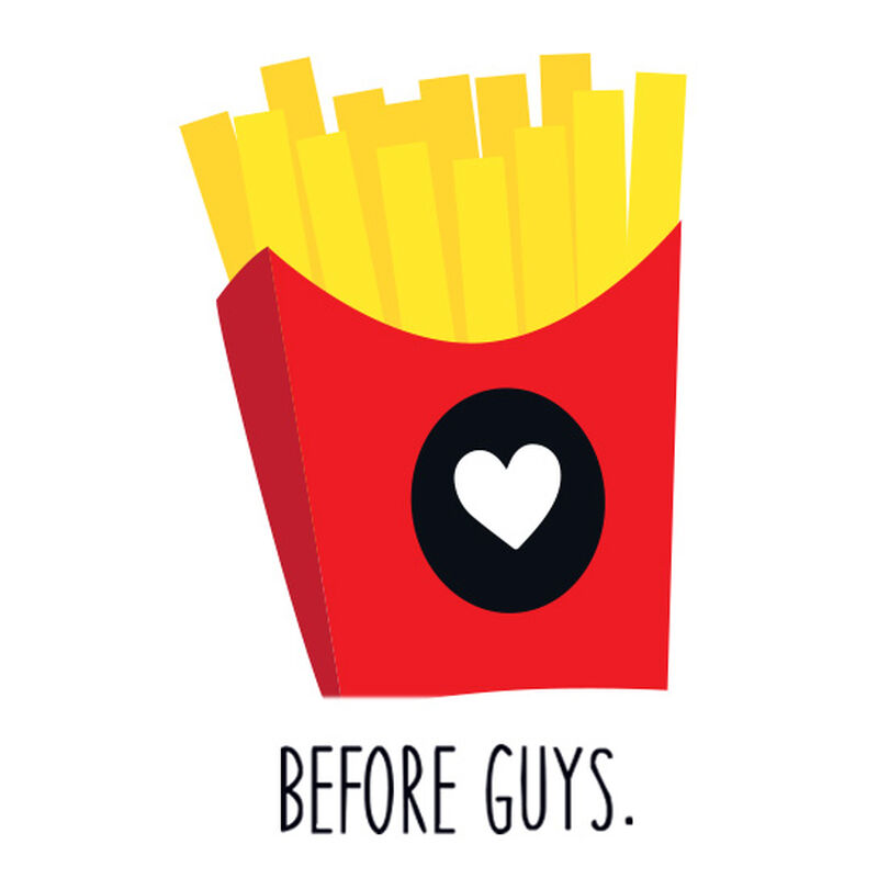Fries Before Guys Temporary Tattoo image number null