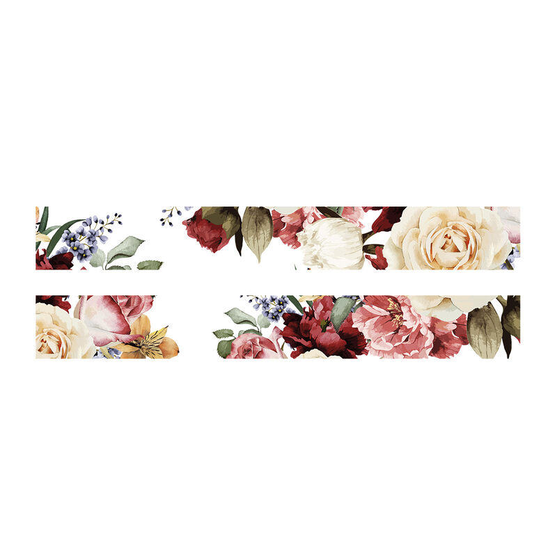 Floral Frame Temporary Tattoo image number null
