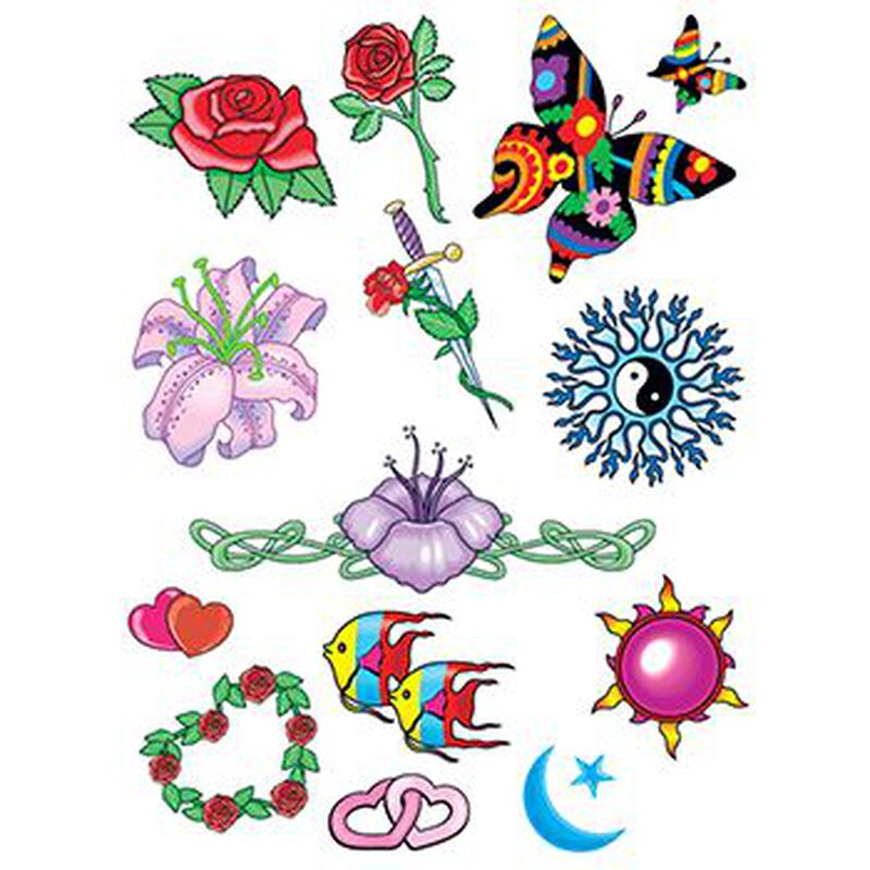 Celestial Nature Set of Temporary Tattoos image number null