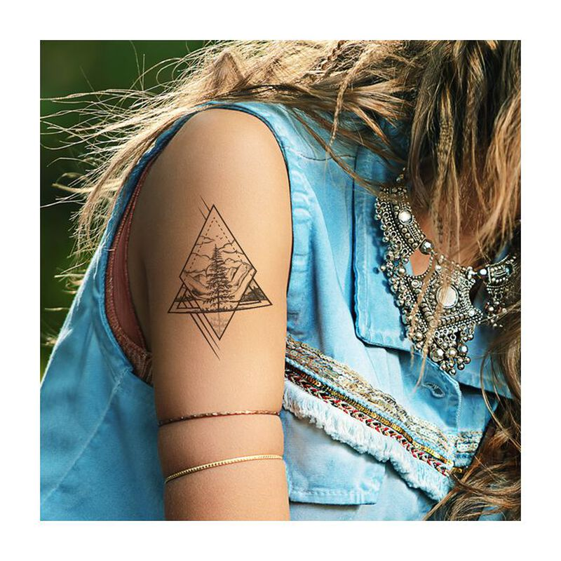 Diamond Nature Scene Temporary Tattoo image number null