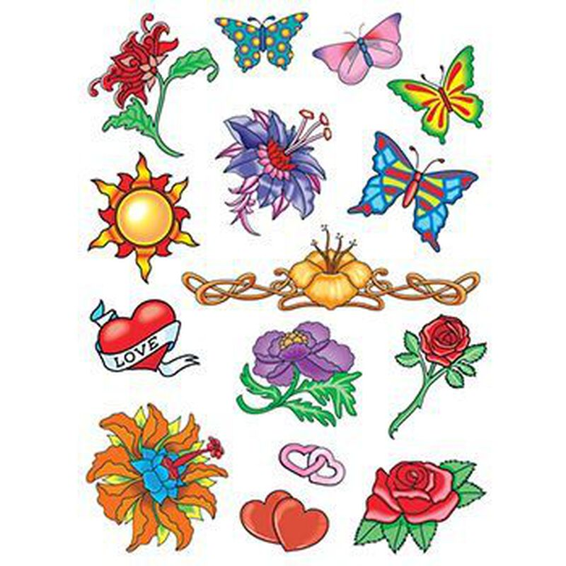 Summer Loving Set of Temporary Tattoos image number null