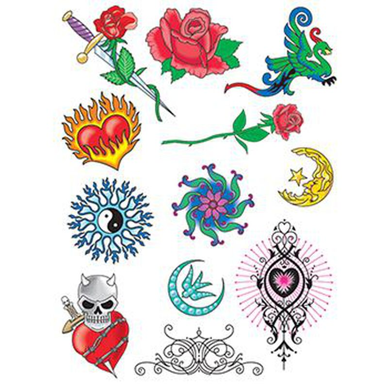 Fire and Ice Set of Temporary Tattoos image number null