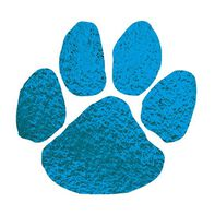 Metallic Blue Paw Temporary Tattoo