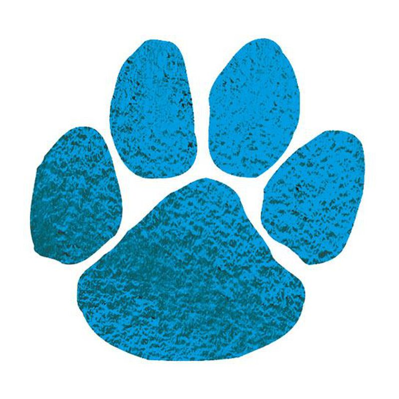 Metallic Blue Paw Temporary Tattoo image number null