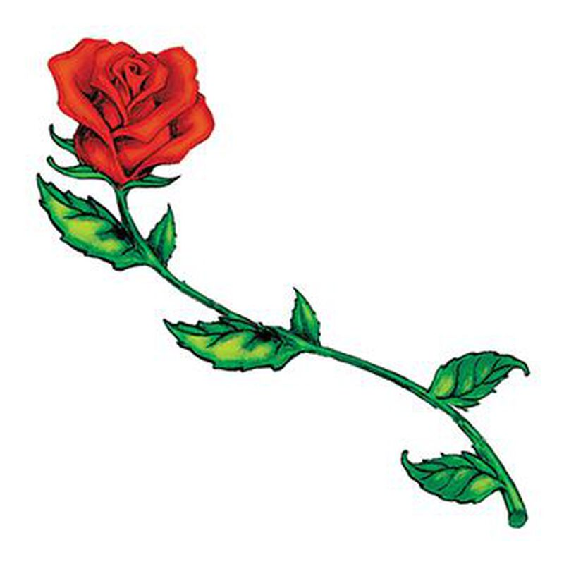 Long Stemmed Rose Temporary Tattoo image number null
