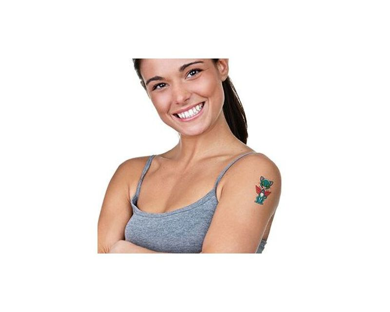 Pair of Cats Temporary Tattoo image number null