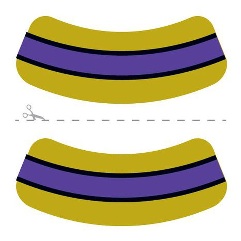 Gold, Purple & Black Eye Black Temporary Tattoos image number null