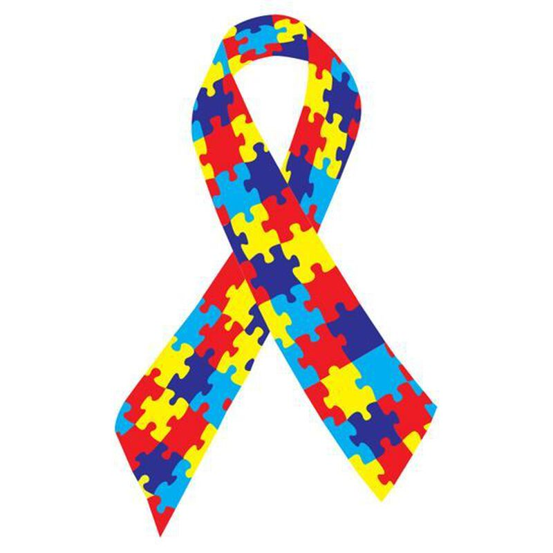 Autism Awareness Ribbon Temporary Tattoo image number null