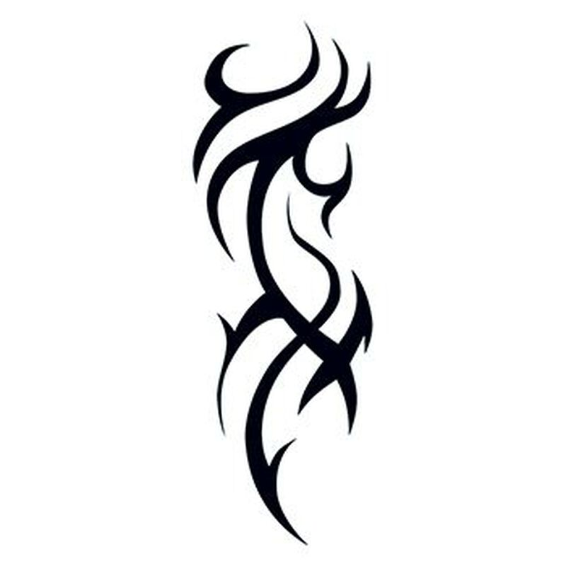 Tribal Pattern Design Temporary Tattoo image number null