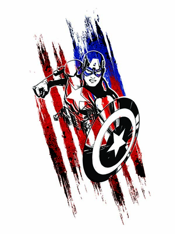 Avengers Captain America Sketch Temporary Tattoo image number null