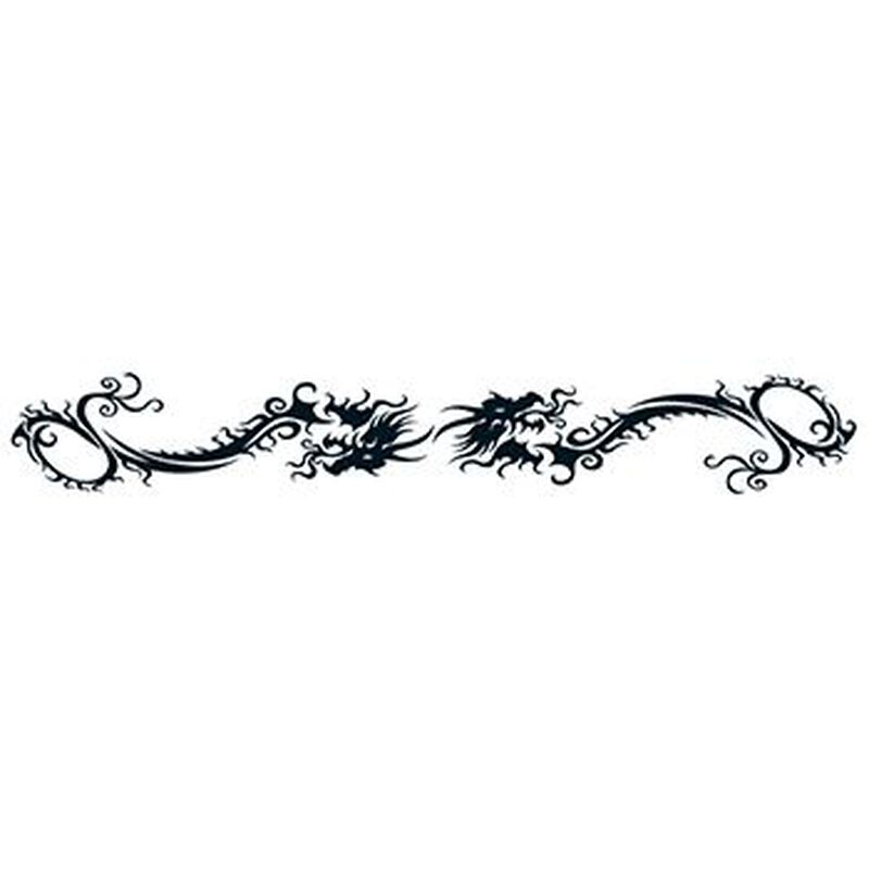 Tribal Dragon Band Temporary Tattoo image number null