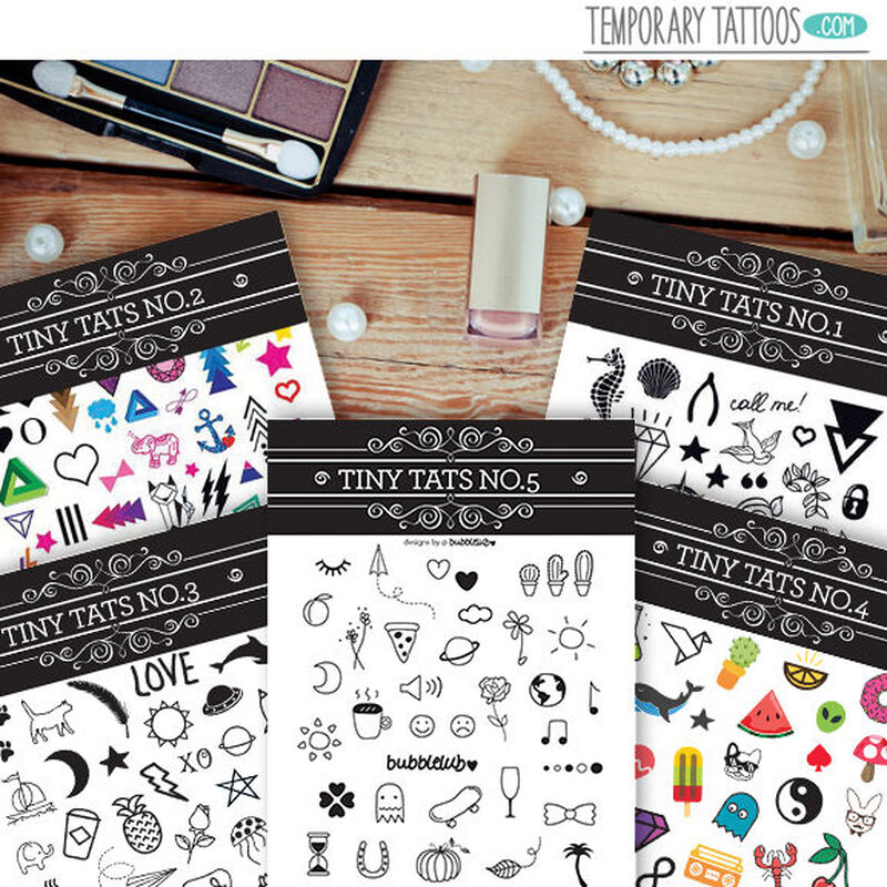 Tiny Tats Temporary Tattoos Pack image number null