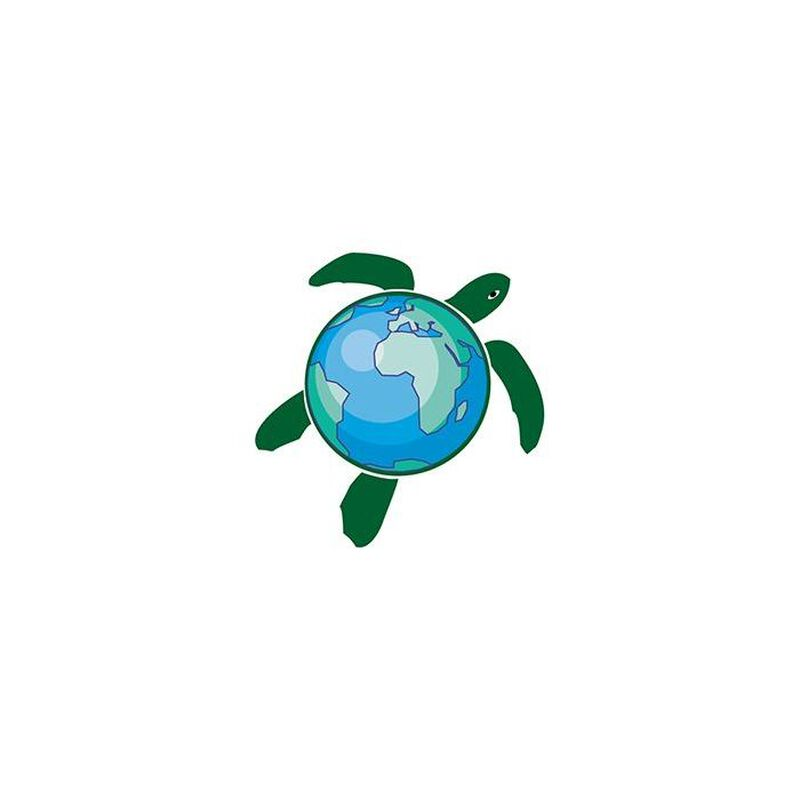 Earth Turtle Temporary Tattoo image number null