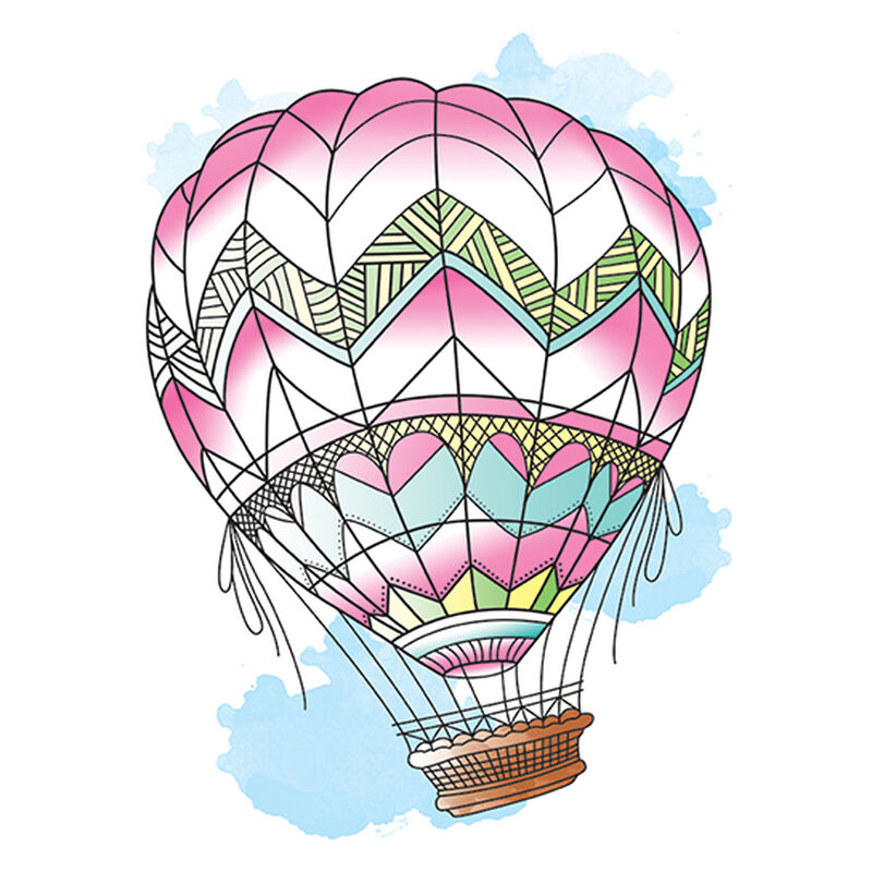 Fly Away Hot Air Balloon Temporary Tattoo image number null