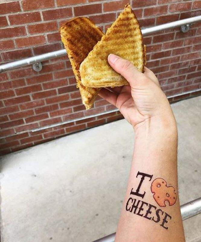I Heart Cheese Temporary Tattoo image number null