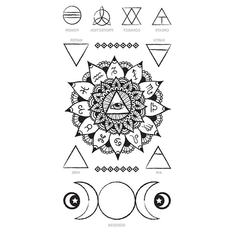 Zodiac Eye of Providence Temporary Tattoo image number null