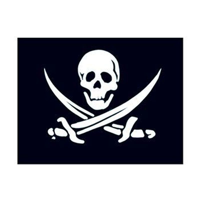 Small Pirate Flag Temporary Tattoo image number null